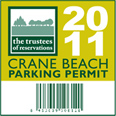 Crane Beach: beach parking sticker 2011
