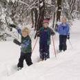 Notchview: kids skiing