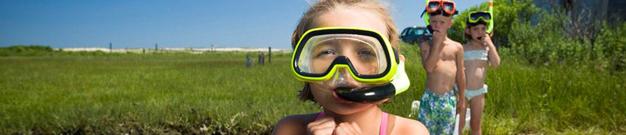 Cape Poge: snorkeling kids